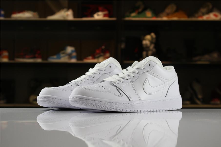 Air Jordan 1 Low Triple White Shoes