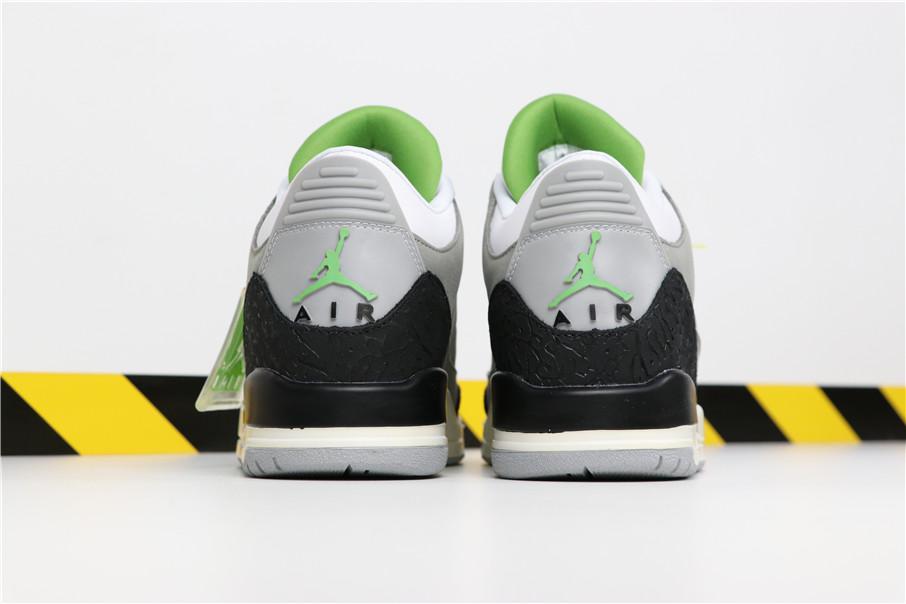 jordan 3 green and grey