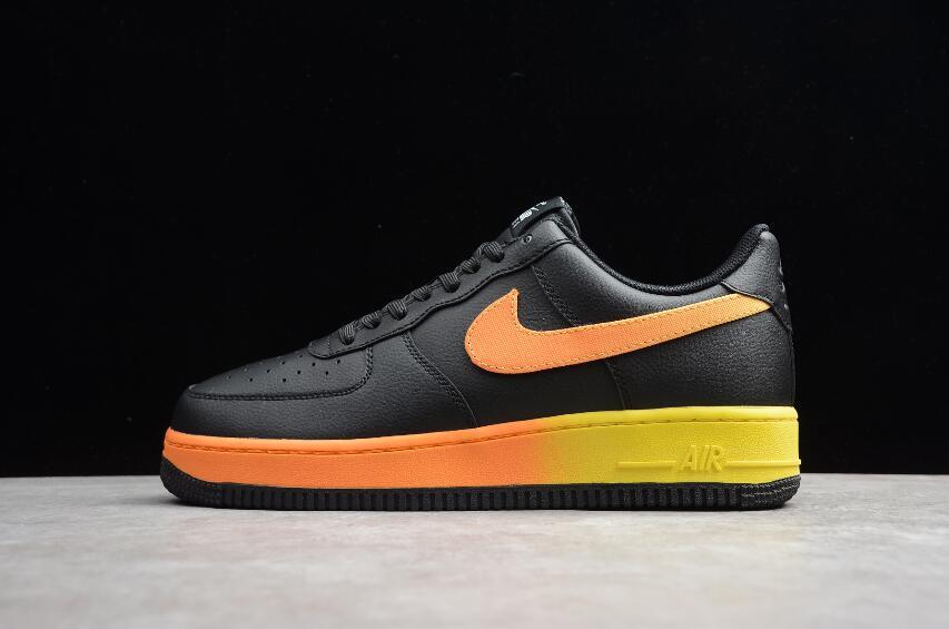 Nike Air Force 1 07 Black Orange Yellow